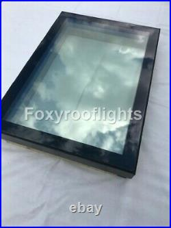 Flat Roof light Skylight Lantern Window Aluminium Laminated Glass 1500 x 1500mm