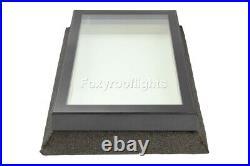 Flat Roof light Skylight Lantern Window Aluminium Laminated Glass 800 x 1200mm