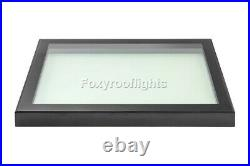 Flat Roof light Skylight Lantern Window Aluminium Laminated Glass 800 x 1800mm