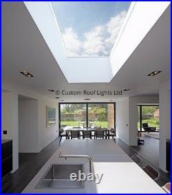 Flat roof lantern skylight rooflight roof window 20 Year Warranty no upstand
