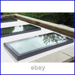 Glass Glazed Rooflight Flat Roof Lantern Skylight Roof Window Sky Light 6 Sizes