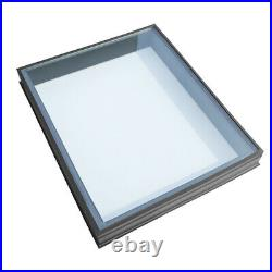 Glass Glazed Rooflight Flat Roof Skylight Lantern Loft Fixed Window Sky Light UK