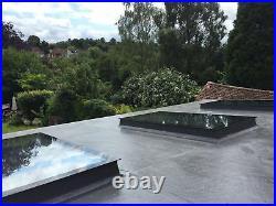 Glass Roof Rooflight Skylight Window Triple Glazed Blue Tint Self Clean 40 Sizes
