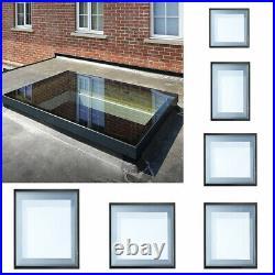 Glazed Retractabl Rooflight Lantern Skylight Flat Roof For Patio Sky Roof Window