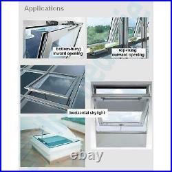 LIWIN 250N 230V BLACK + BRACKETS FOR SKYLIGHT Roof window