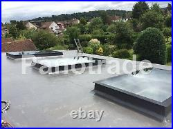 Manual Opening Flat Roof Window Skylight Roof-light Triple Glazed 1000 x 1500mm