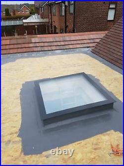 Manual Opening Flat Roof Window Skylight Roof-light Triple Glazed 1000mm x1000mm