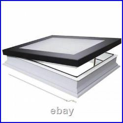 Manual Opening Flat Roof Window Skylight Roof-light Triple Glazed 600mm x 1200mm