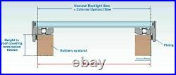 Mardome Rooflight Glass Sky Light Flat Roof Lantern Window Grey Frame Skylight