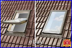 OPTILIGHT Roof Window 66 x 118cm Centre Pivot Skylight + Flashing Tile or Slate