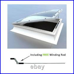Opening Dome Roof Light, Polycarbonate Flat Roof Skylight Window by Mardome