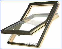 OptiLight Roof Window Centre Pivot Skylight Loft Rooflight + Flashing Slate, Tile