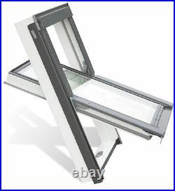 Optilight PVC Roof Window 7898cm (Skylight Loft Rooflight) FREE FLASHING