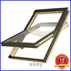 Optilight Pine Roof Window Centre Pivot + Flashing Kit, Loft Skylight Rooflight