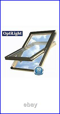 Optilight Skylight Roof window incl flashing, Loft Skylight Rooflight 78x98cm