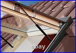 Optilight Top Hung Skylight Escape Access Roof Window 78x118cm + Flashing