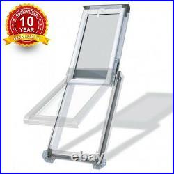 PVC Top Hung Skylight Escape Access Roof Windows 55cm x 78cm + Flashing