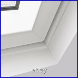 REDUCED/01 Centre Pivot White PVC Roof Windows 55cm x 78cm Sunlux Loft Skylight