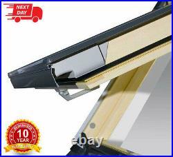 REDUCED/01 Optilight Roof Window 55 x 78cm Centre Pivot Skylight, Flashing