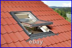 REDUCED/01 Optilight Roof Window 78 x 98cm Centre Pivot Skylight, Flashing