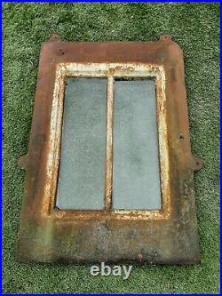 Reclaimed Cast Iron Skylight Window Two Glass Panels Roof Build Home #W38S