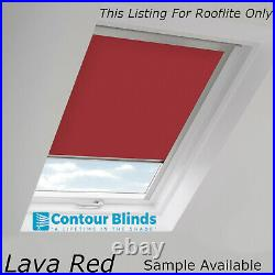 Red Rooflite Blackout Blinds For Roof Skylights And Roof Windows