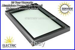 Roof Window Skylight Rooflight Aluminium Triple Glazed Laminated Glass 1000x1000