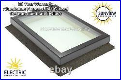 Roof Window Skylight Rooflight Aluminium Triple Glazed Laminated Glass 1200x1200