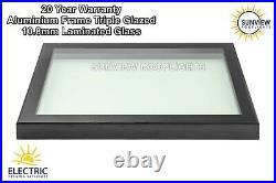 Roof Window Skylight Rooflight Aluminium Triple Glazed Laminated Glass 800x1800
