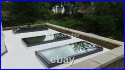 Roof light Skylight Triple Glazed Security Window GREY Aluminium LAMINATED GLASS