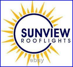 Roof light Skylight Window Triple Glazed Aluminium LAMINATED GLASS 1000 x 2500mm