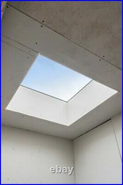 Rooflight Flat Roof Skylight Sky Light Glass Glazed Lantern Window 1000 x 1000mm