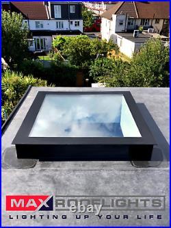 Rooflight Flat Roof Skylight Sky Light Glass Glazed Lantern Window 1000 x 2000mm