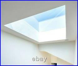 Rooflight Flat Roof Skylight Sky Light Glass Glazed Lantern Window 1000 x 800mm