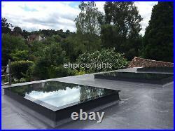 Rooflight Skylight Window Triple Glazed Self Clean Toughened+ Glass 800 x 800mm