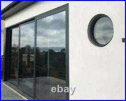 Round Skylight circular rooflight flat glass roof window Triple Glazed
