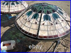 STAINED GLASS ROOF LIGHT DOME WINDOW LEADED Sky Light, Roof Window, PAIR
