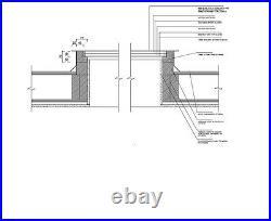 Skylight Flat Roof Rooflight Triple Glazed Self Clean Glass 1000mmx2000mm +Kerb