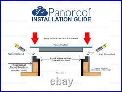 Skylight Flat Roof Rooflight Triple Glazed Self Clean Glass 800mmx1000mm +Kerb