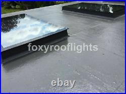 Skylight Flat Roof Rooflight Triple Glazed Self Clean ToughGlass 1000x2500 +Kerb