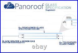 Skylight Roof Window Rooflight Lantern Triple Glazed Self Clean Glass 500 x 1200