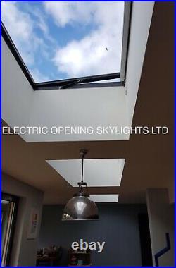 Skylight Rooflight Flat Roof Window Opening Electric 1200 x 1200mm 20yr Warranty