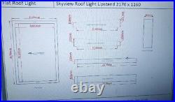Skylight window flat roof 2170m X 1160m