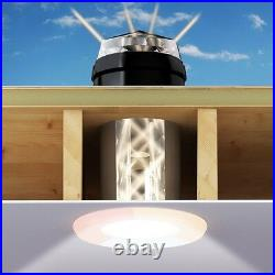 Sun Tunnel Skylight Rigid Sky Tube for Flat Roofs 600mm Long