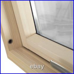 Sunlux Wooden Timber Roof Window 134 x 98cm Centre Pivot Skylight +Tile / Slate