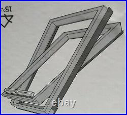 TWO VELUX CK02 Pine Centre Pivot Roof Window Loft Skylight 55cm x 78cm Velux