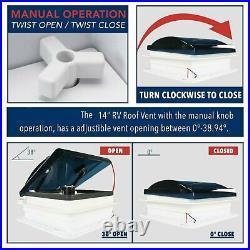 UKSHIP RV Caravan Roof window Vent Hatch Ventilation Exhaust Fan Skylight+LED