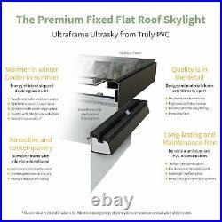 Ultrasky Flat Roof Skylight Ultraframe Roof Window Rooflight Lantern