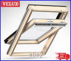 VELUX FK04 Pine Centre Pivot Roof Window Wooden Loft Skylight 66cm x 98cm Velux