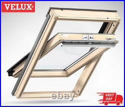 VELUX PK06 Pine Centre Pivot Roof Window Wooden Loft Skylight 94cm x 118cm Velux